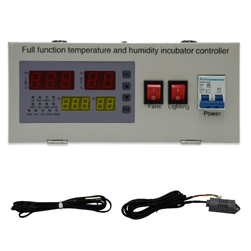 Controlador de incubadora de huevos automático XM-18EW controlador de temperatura LED Digital sensores de humedad de temperatura