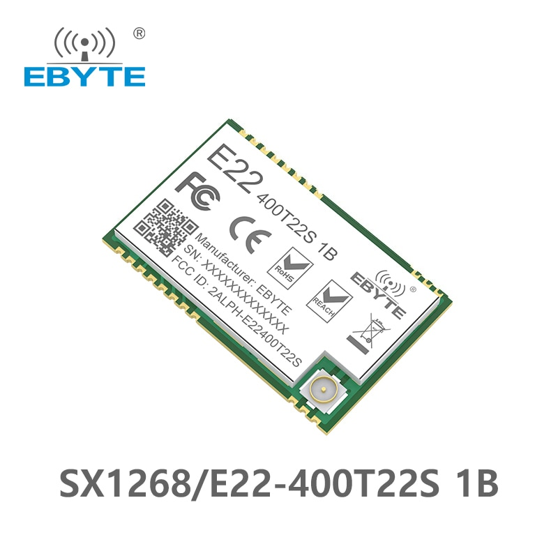 E22-400T22S1B SMD UART SX1268 SX1262 Wireless Transmitter and Receiver SMD 433MHz RF Module RSSI Net Work TXCO Transceiver