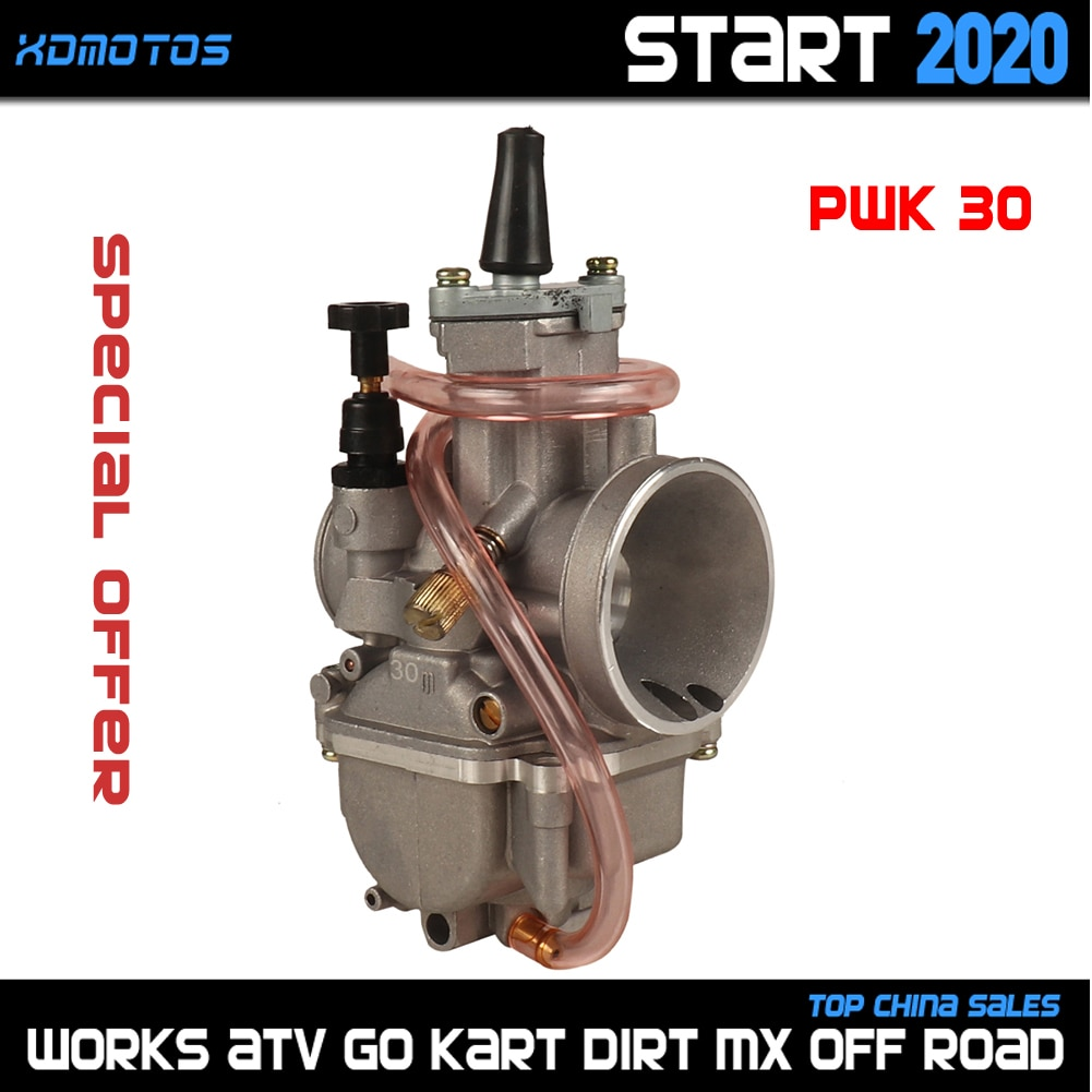 Carburador PWK30 de 30mm para HONDA SUZUKI KAWASAKI YAMAHA KTM moto de cross scooter todoterreno ATV Quad UTV