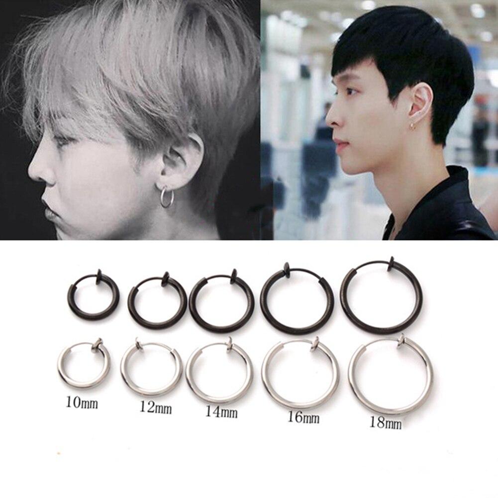 1 Piece Fashion Fake Nose Ring Goth Punk Lip Ear Nose Clip On Fake Septum Piercing Nose Ring Hoop Lip Hoop Rings Earring