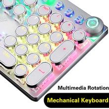 Nouveau AULA clavier mécanique 104 Anti-image fantôme lumineux bleu noir rouge marron commutateur LED rétro-éclairé filaire clavier de jeu russe