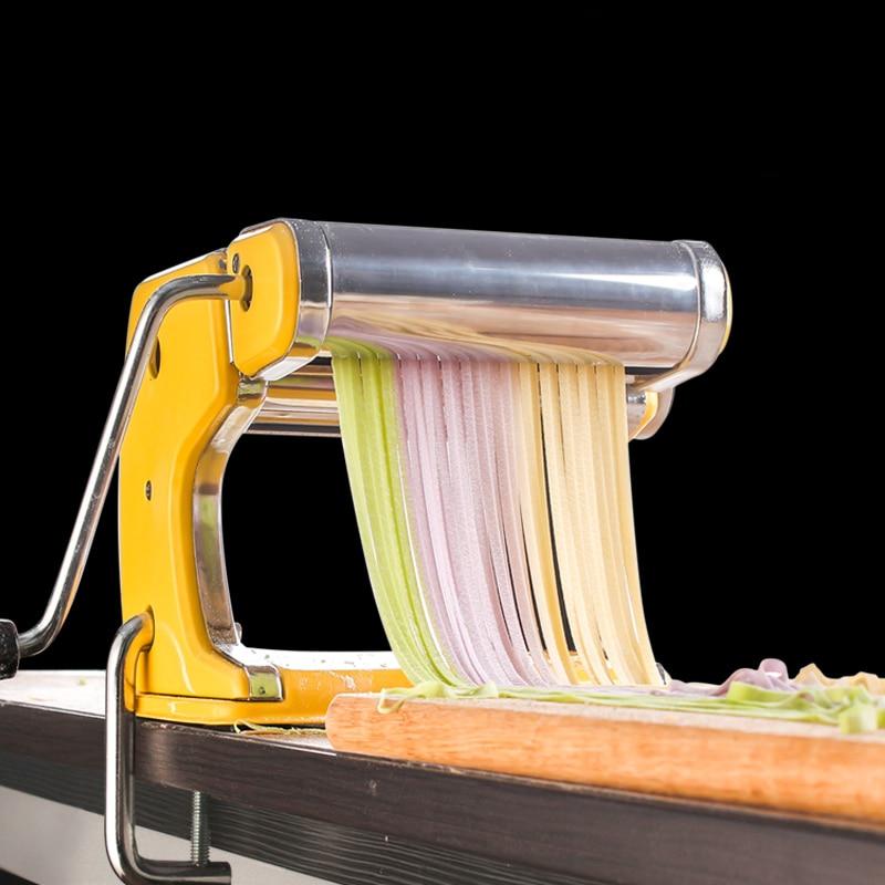دليل صانعة النودلز آلة الثقيلة المطبخ الفولاذ المقاوم للصدأ متعددة الوظائف ماكينة تصنيع المعكرونة الصحافة برينسا دليل تجهيزات المطابخ DG50MT