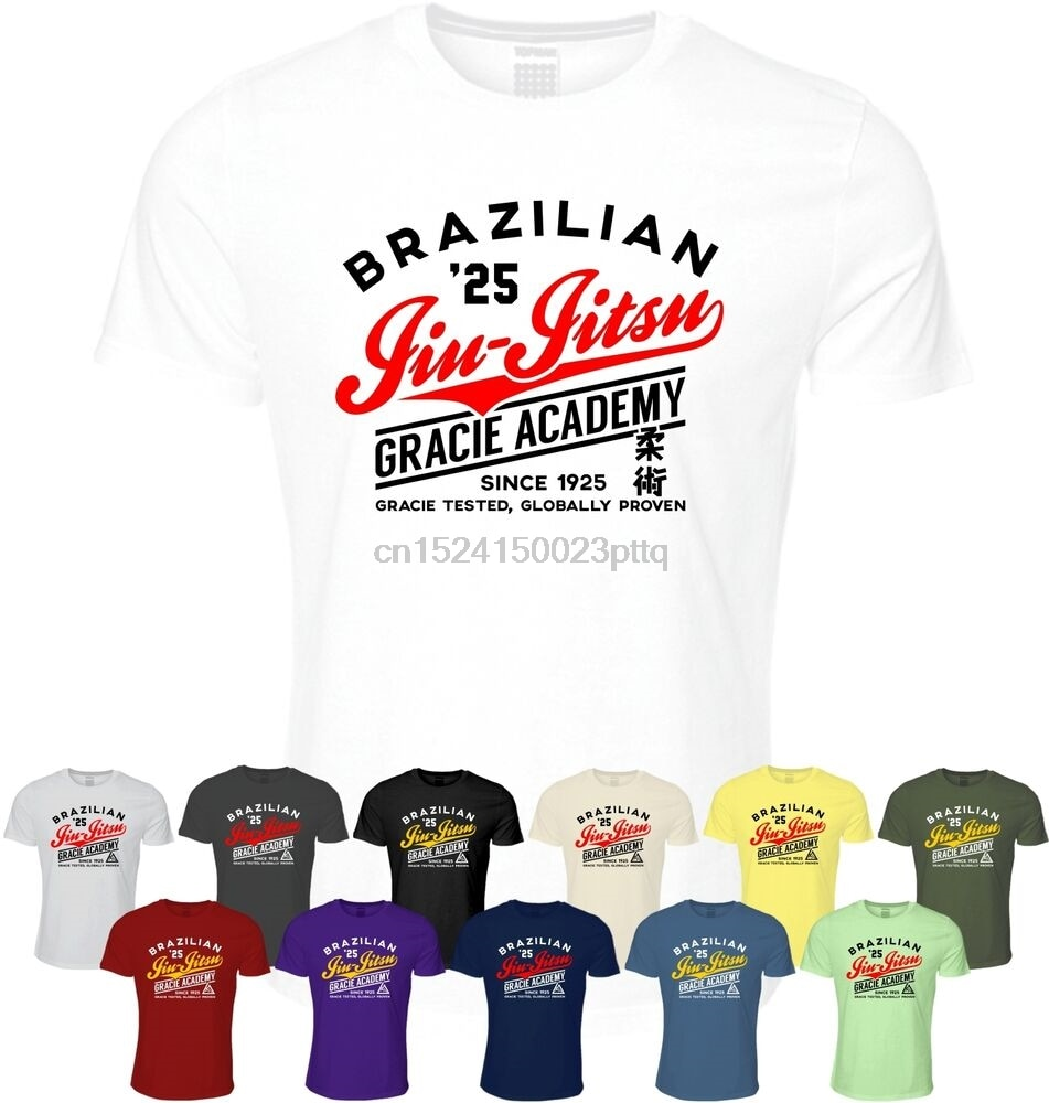 Camiseta brasileña Jiu Jitsu Gracie Academy ropa artes marciales BJJ Fight