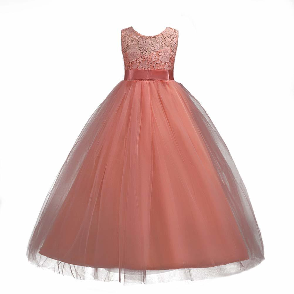 flower girls pageant dress kids wedding dresses for girl vestidos 2020 children lace white princess robe kid party evening gown Girls Lace Dress Long A Line Tulle Wedding Pageant Party Prom flower girl kids evening Dresses Ball Gown robe enfant mariage