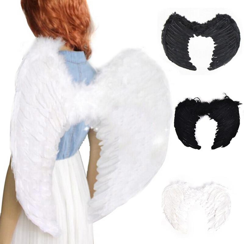 Модные 4 размера, перьевая Фея Ангел с крыльями, девичья ночь, нарядное платье, костюм на Хэллоуин, маскарадный костюм, вечерние принадлежности для мероприятий