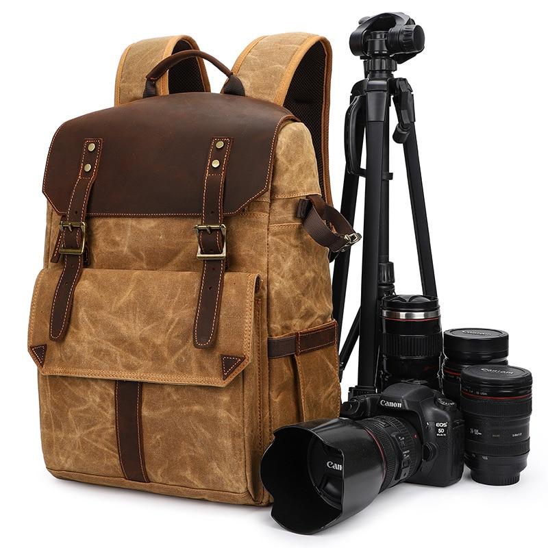 حقيبة ظهر محمولة مقاومة للماء DSLR ، حقيبة كاميرا رقمية متعددة الوظائف ، حقيبة صور خارجية ، حقيبة عدسة DSLR