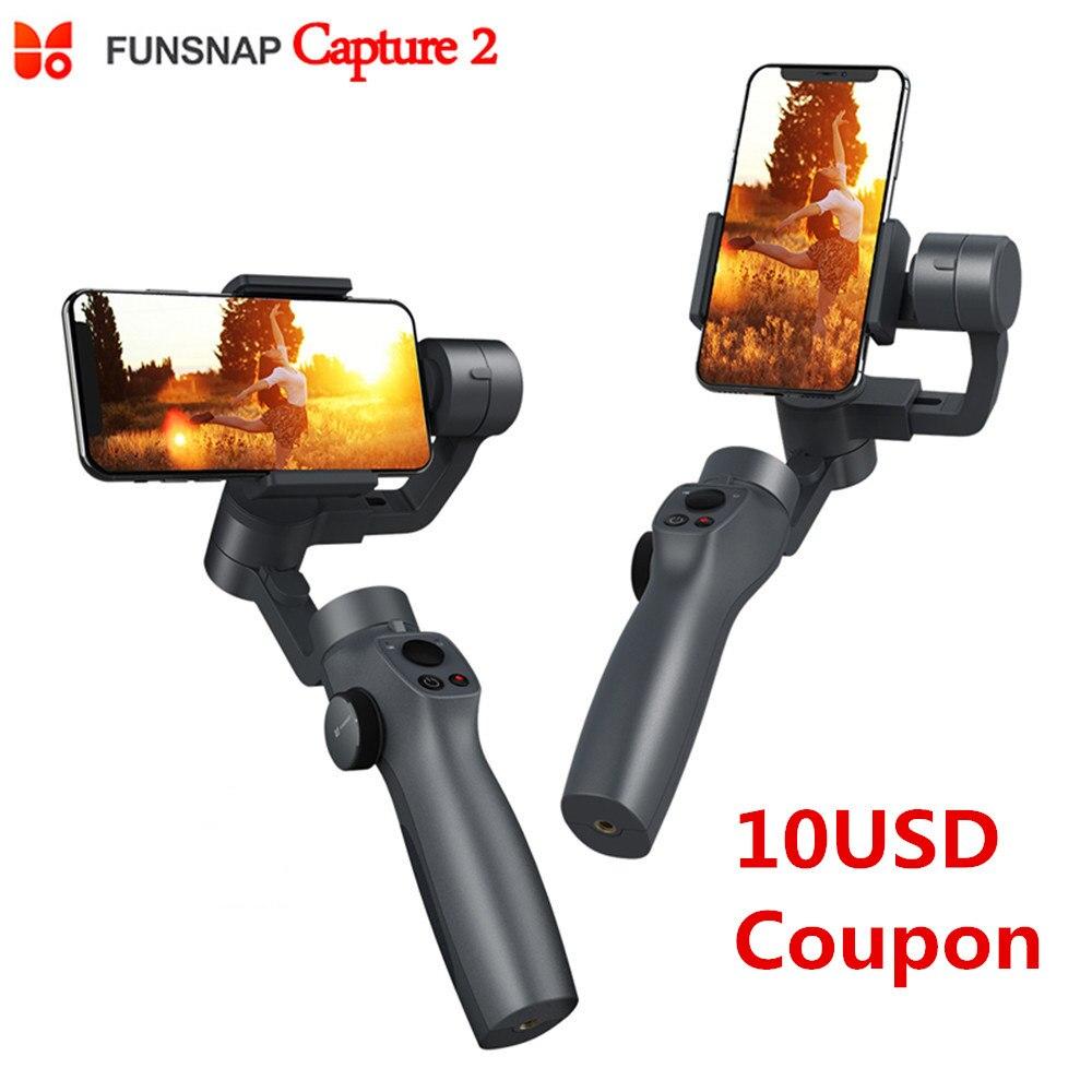 Nuevo estabilizador de cardán de mano Funsnap Capture 2 3 ejes para cámara GoPro SJcam XiaoYi VS DJI OSMO 2 ZHIYUN FEIYUTECH