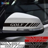 2pcslot car rearview mirror sticker for vw golf1 golf2 golf3 golf4 golf5 golf6 golf7 mk1 mk2 mk3 mk4 mk5 mk6 mk7