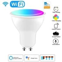 Ampoule LED connectee Wifi  projecteur Gu10 220-240V  RGB   CCT  commande vocale  fonctionne avec Alexa Google Home eWeLink APP