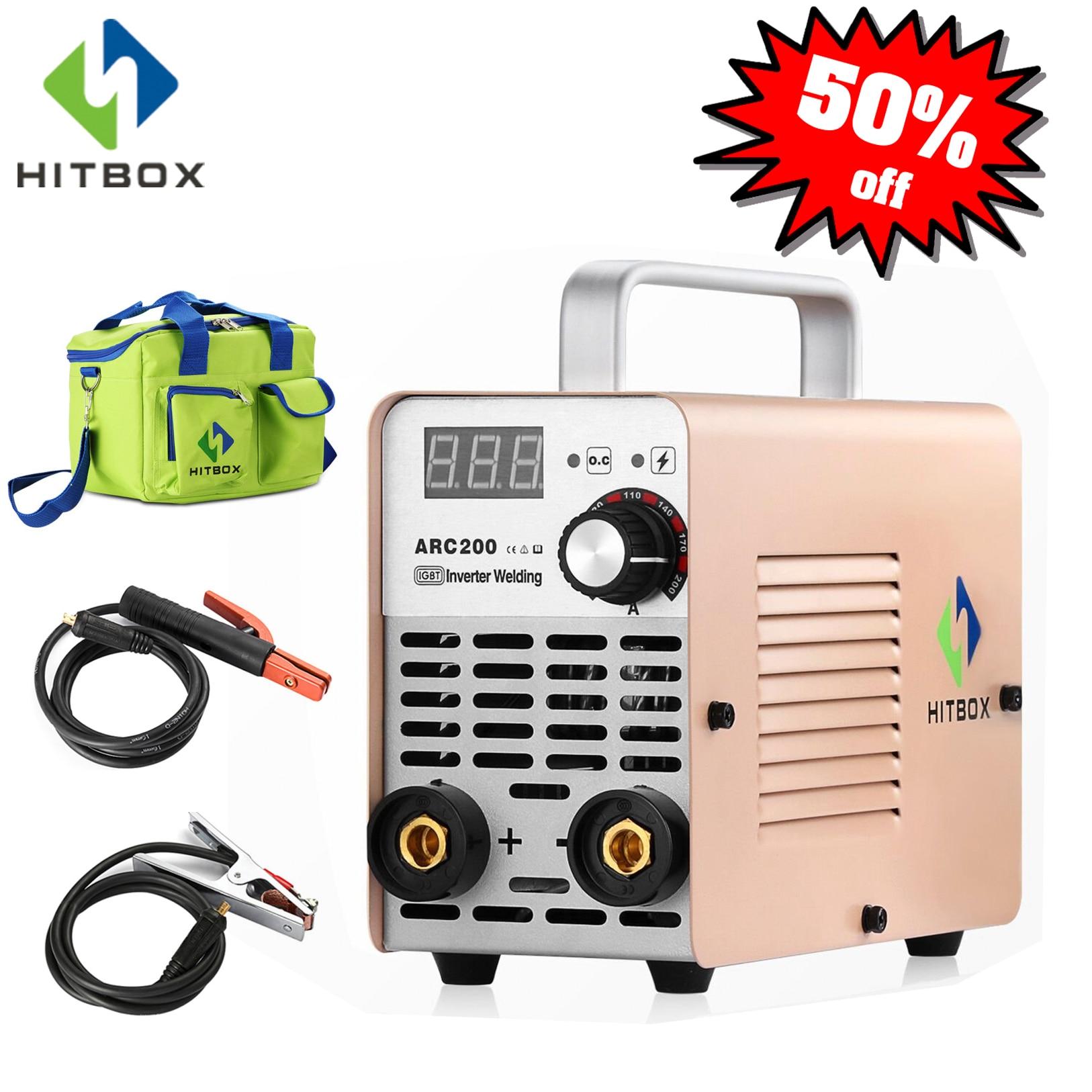 Hitbox inversor soldador arco mini arco 220 v tamanho pequeno soldador arc120 para uso doméstico 120a máquina de solda mma