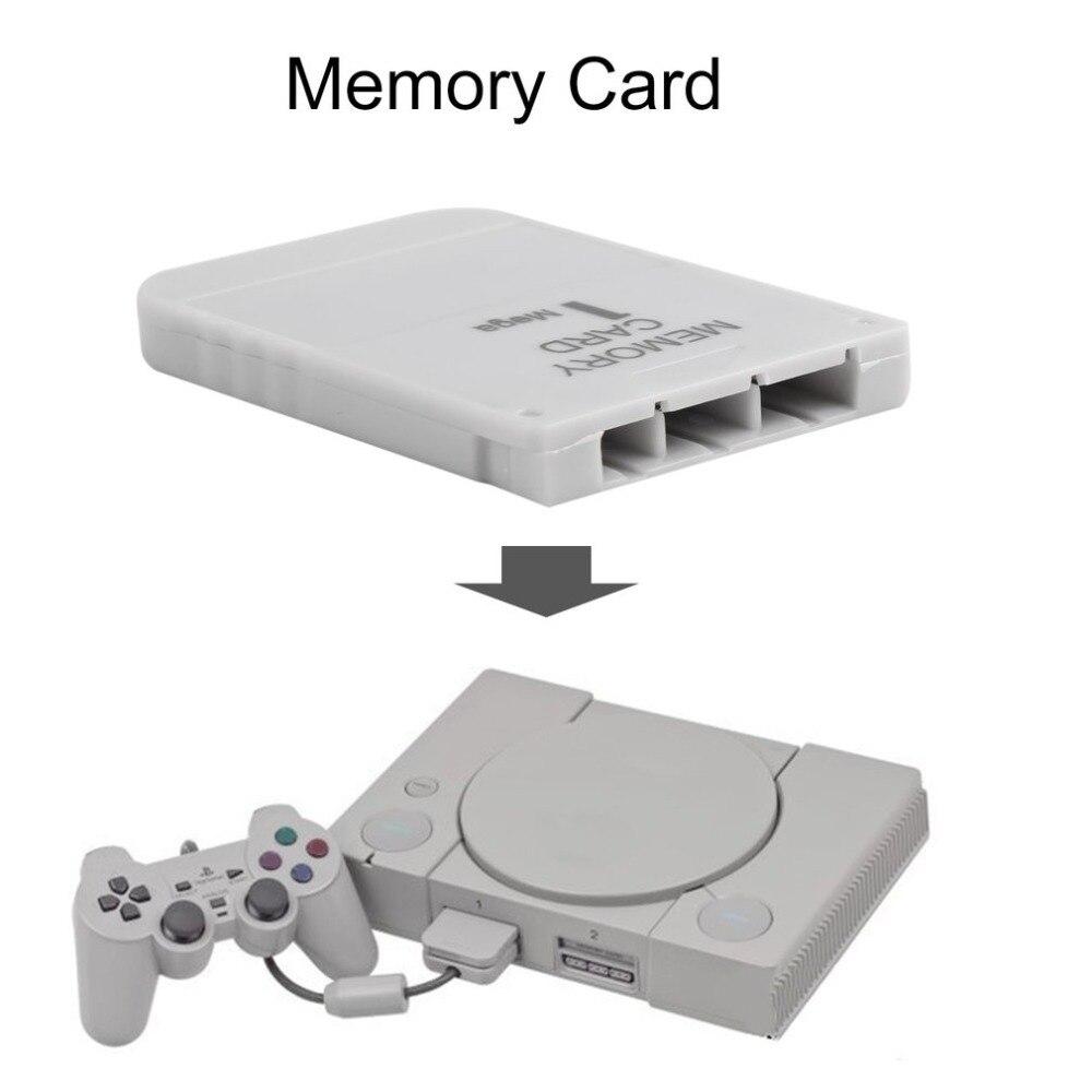 Tarjeta de memoria PS1 1 1 Mega, tarjeta de memoria para PlayStation 1 One PS1, juego de PSX útil y práctico, color blanco, 1 M, 1MB
