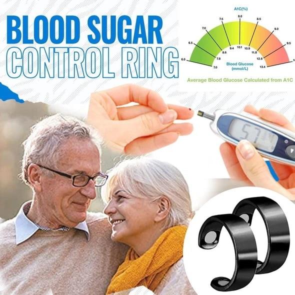 Fashion Blood Sugar Control Ring Diabetes Monitor Healthy Blood Sugar Meter