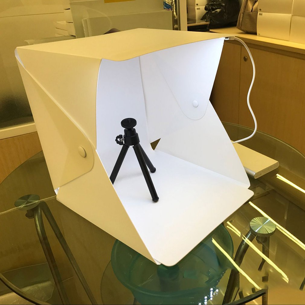 Mini caja de luz plegable 2019, caja de luz LED para estudio de fotografía, caja de luz suave, Kit de fondo para fotografía, caja de luz para cámara DSLR