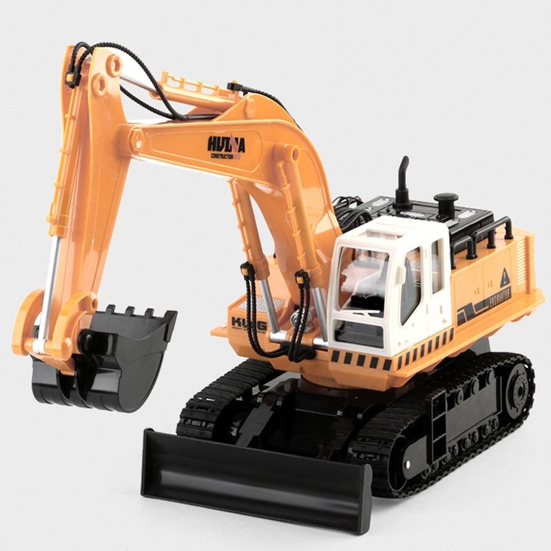 Excavator 11-Channel Remote Control Push Bulldozer Children Electric Toy Car Remote Control Engineering Car Set