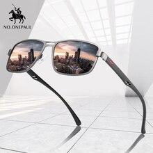 Солнцезащитные очки NO.ONEPAUL мужские, поляризационные, квадратные, металлические, UV400