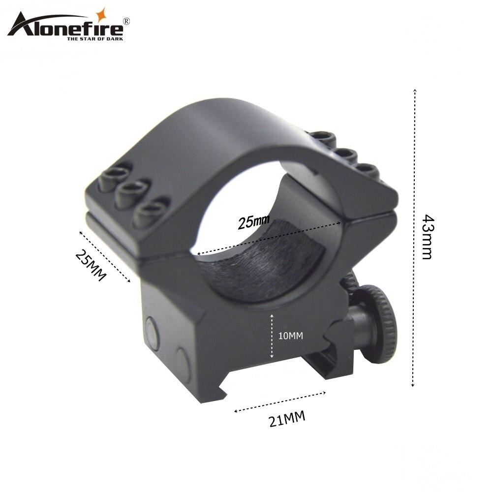 AloneFire25DK-3 25mm anel tecelão 21mm base de encaixe ferroviário picatinny airsoft rifle tiro arma luz mira laser caça escopo montar