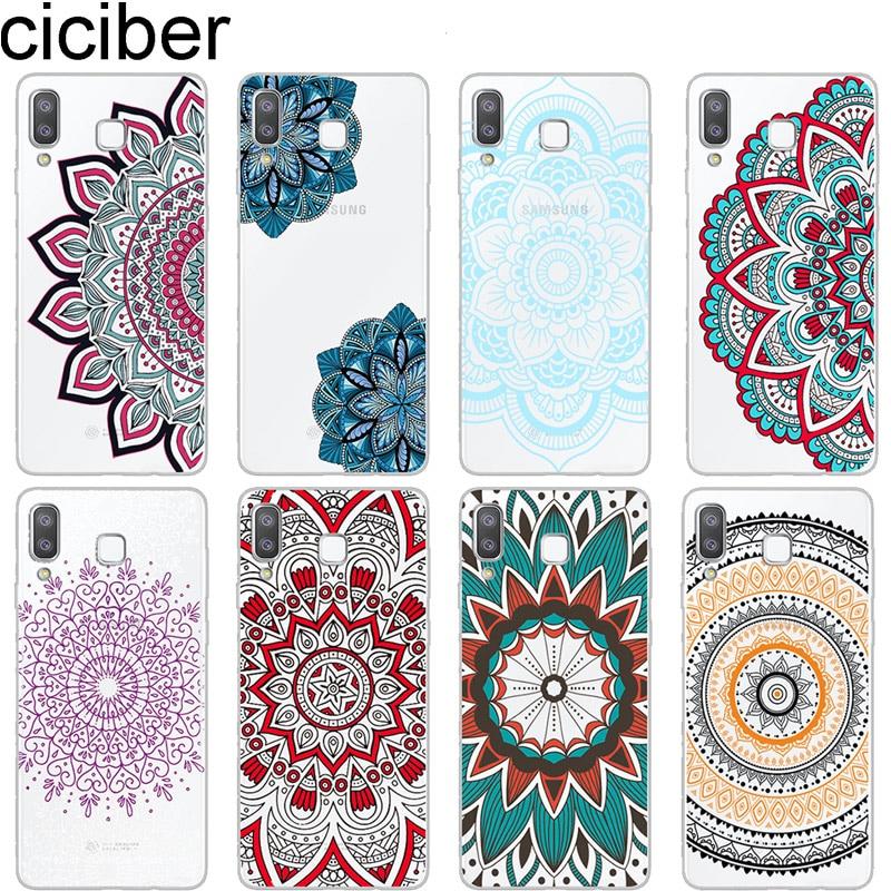 Ciciber capa para samsung a7 a5 a6 a8 a9 a3 2018 2017 2016 estrela capa para galaxy c7 c5 c9 pro tpu macio mandala flor coque