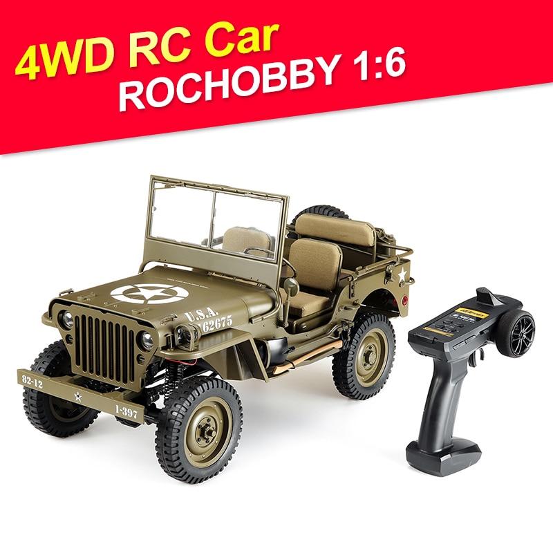 ROCHOBBY-سيارة تحكم عن بعد مع جهاز تحكم عن بعد ، 1:6 ، 2.4G ، 2CH ، 1941 ميجابايت ، قشارة ، تحكم لاسلكي ، مقاوم للماء ، نماذج متناسبة بالكامل ، ألعاب بدون ب...