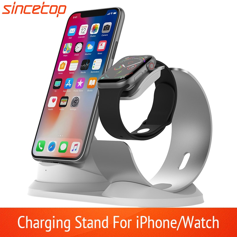 2 in 1 Charging Stand For iPhone11Pro X XR XS Max 8 7 6 Apple Watch Charger Dock Holder For iWatch Mount Stand Charging Station