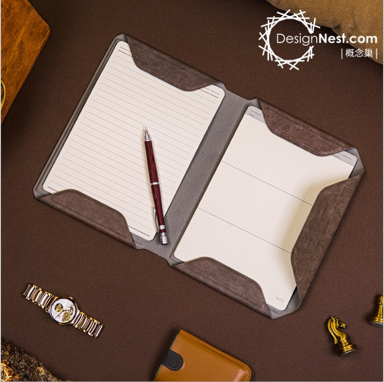 NoteBook Folder Notebook  PU Leather Material Writing Organizer A5 Size Easy Replacement and Adjust enlarge