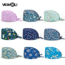 vkamoli Cotton Pet shop lab Beauty work hat scrub cap nurse accessories bouffant scrub hat