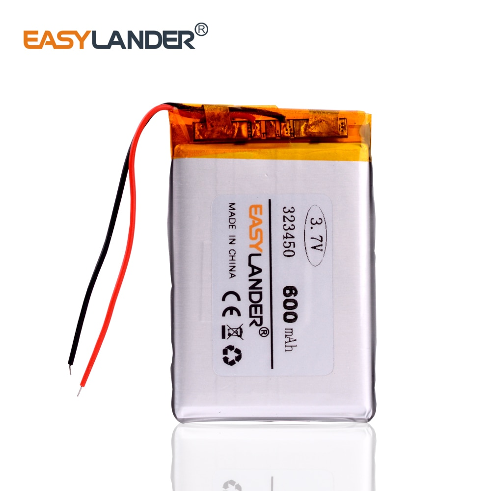 PRS-505 E-Book Battery 323450 3.7v 600mah lithium polymer battery For Sports bracelet earphone MP3 MP4 DVR GPS 303450 313450