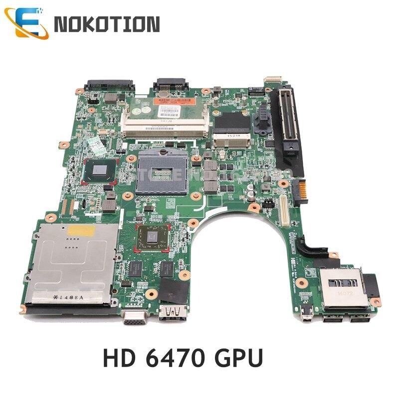 NOKOTION 646967-001 اللوحة الرئيسية ل HP بي Elitebook 8560P كمبيوتر محمول اللوحة QM67 DDR3 HD 6470 GPU