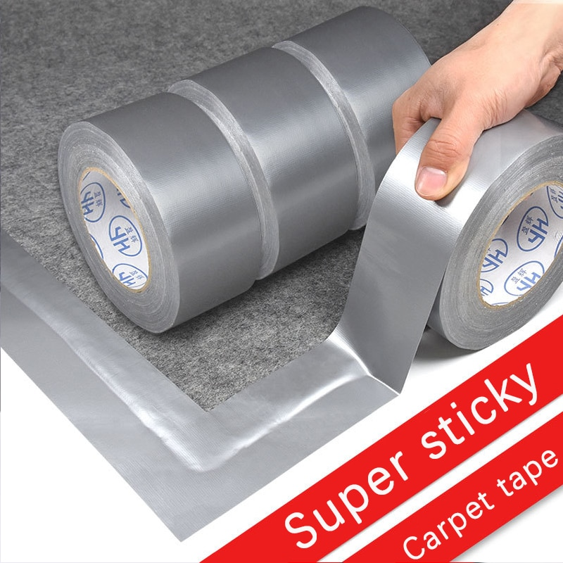 Super Sticky Cloth Duct Tape Carpet Floor Waterproof Tapes High Viscosity Silvery Grey Adhesive Tape DIY Home Decoration 10meter