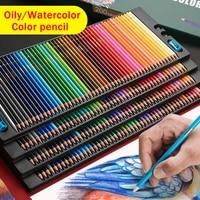 lyoo 4872120150200 colors oil color pencil set wood watercolor colored pencils water soluble coloured pencils art supplies