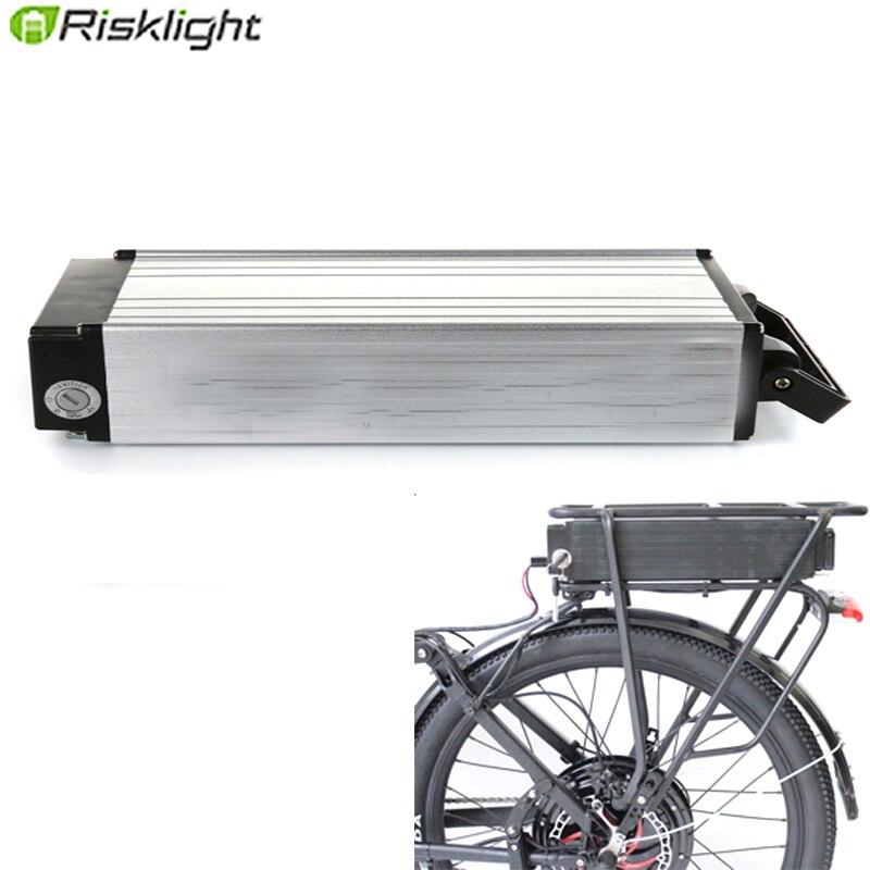 48V 1000W de plata rack trasero 48v 20AH 15AH 25AH 30AH batería de bicicleta eléctrica 48V 750w 500w bafang ebike equipaje de baterías de litio