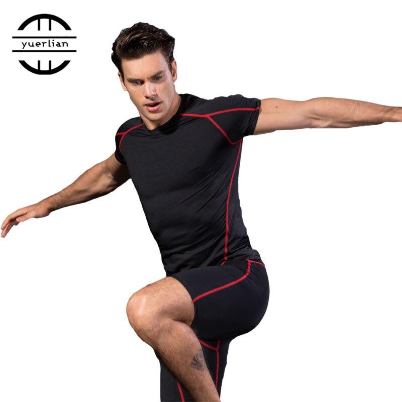 Быстросохнущая спортивная мужская рубашка для бега, фитнеса, футбола, баскетбола, Джерси, тренажерного зала, Мужская бодибилдинг, спортивная одежда, компрессионные колготки