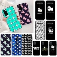 game undertale annoying dog cover black soft shell phone case for samsung s20 plus ultra s6 s7 edge s8 s9 plus s10 5g lite 2020