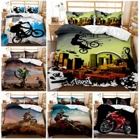 extreme sports bedding set off road race motorcycle duvet cover set 23pcs bedclothes for boys adults kids luxury home textiles