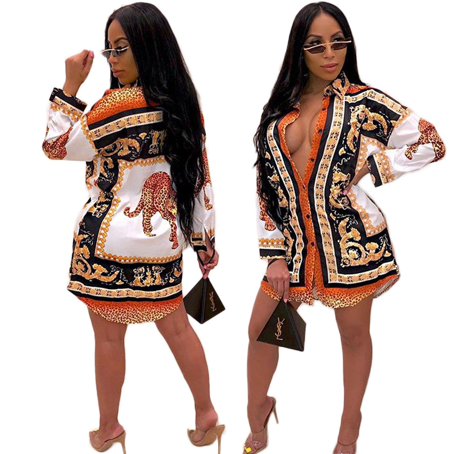 Camisa das Mulheres de outono e roupas de inverno A Nova Estampa de Leopardo Moda mulheres profissionais camisa estilo de Rua saia