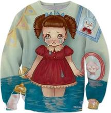 Melanie martinez crybaby hoodies rosa engraçado bolhas chorar bebê sweatshirts copo sippy palhaço-lanie kawaii pulôver para mulher