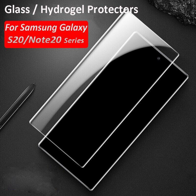 Ультраизогнутое закаленное стекло для Samsung Galaxy Note 10 S20 Plus, защита экрана и гидрогелевые Защитные пленки для экрана