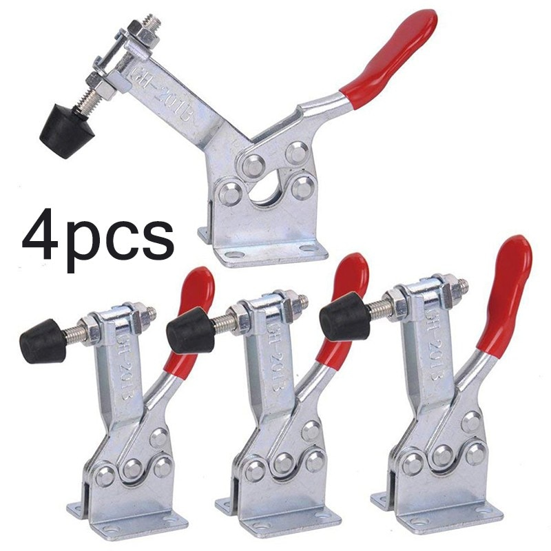 4/8pcs/set Red Toggle Clamp GH-201B 100kg Quick Release Tool Horizontal Clamps Hand New Heavy Duty T