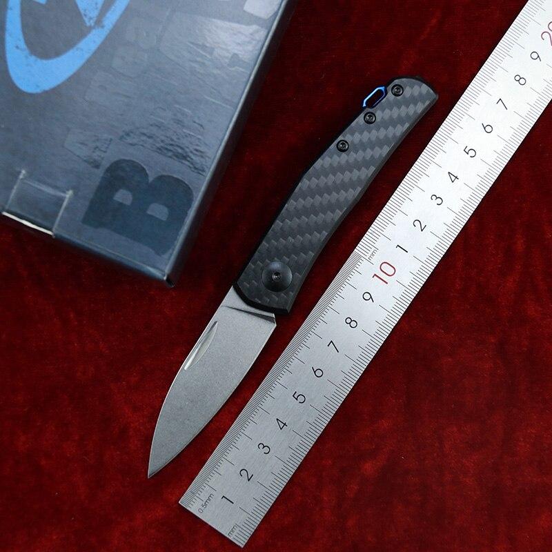 Nova zt0235 0230 deslizamento-comum marca de fibra de carbono 20cv bolso sobrevivência edc ferramenta acampamento caça cozinha ao ar livre faca dobrável
