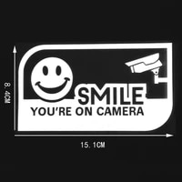 your on camer funny smile vinyl decal car sticker warning signs
