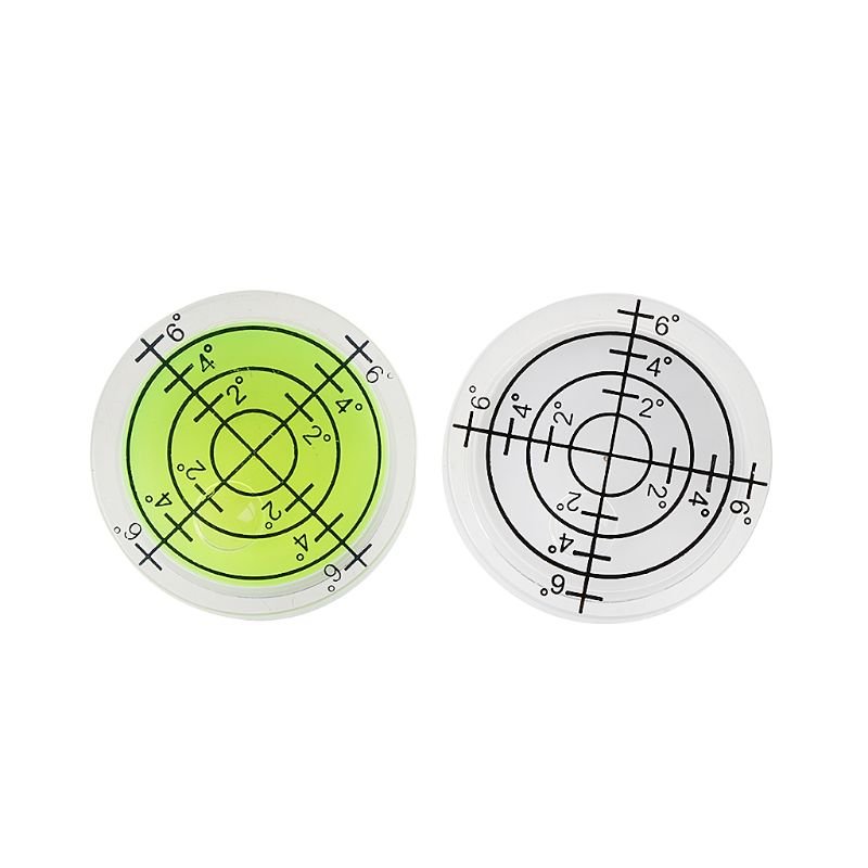 2 pces 32*12mm redonda bolha nível branco verde bullseye espírito ferramenta de medição nível l69a