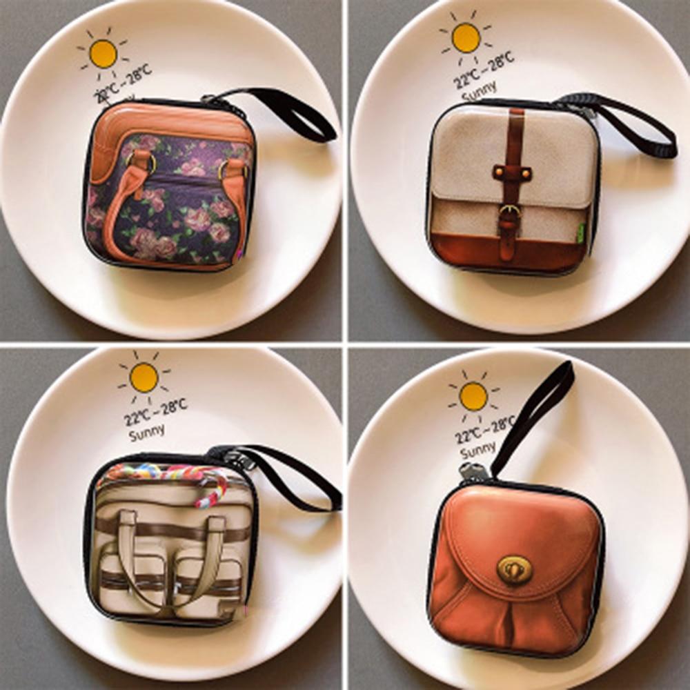 Creative Tinplate Coin Purse Headset Bag Retro Shape Coin Purse Mini Key Case Coin Storage Bag creative fun cheese snacks pu pocketbook coin bag girls purse small canvas purse cat coin purse