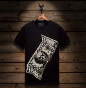 Tshirt O-Neck Diamonds stone Tops Funny Novelty Men  tshirt Hip Hop Top Tees Hot drill design