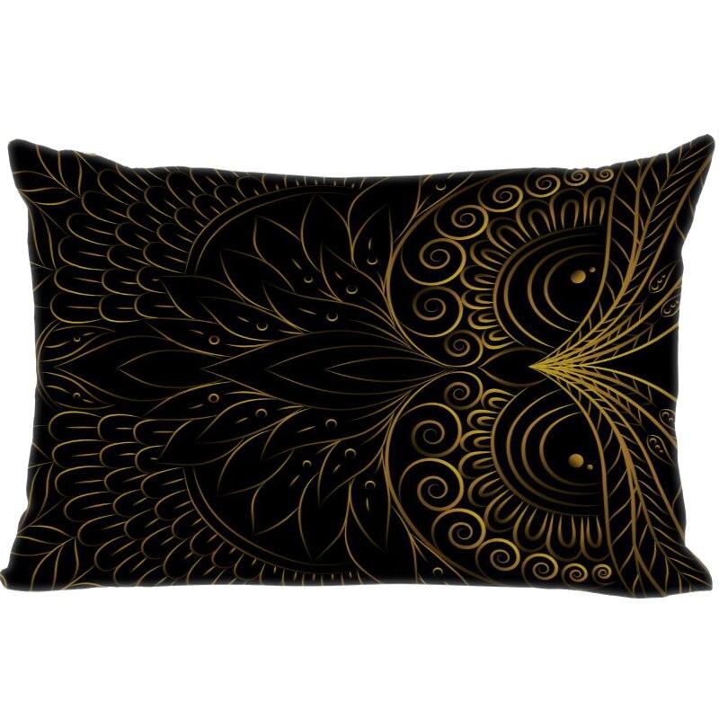 Наволочка для подушки с рисунком совы, декоративная наволочка для спальни, прямоугольная Женская наволочка из атласной ткани, лучший подар...