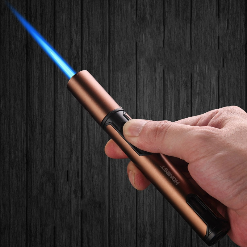Metal Torch Gas Lighters windproof Lighter Cigar Butane Spray Gun Portable Jet Lighter Kitchen Outdo