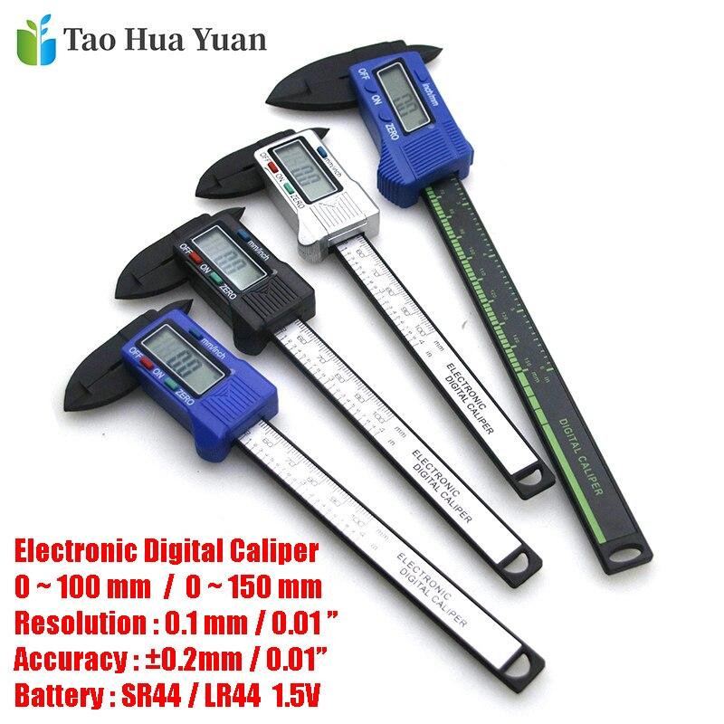 AliExpress - Tao Hua Yuan New Arrival 150mm 6 Inch LCD Digital Electronic Carbon Fiber Vernier Caliper Gauge Micrometer Measuring Tool Ruler