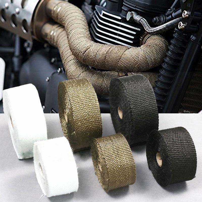 Cubierta de cinta de escape térmico para SUZUKI gn 250 katana 600 gsxr 1000 k7 gsx s1000f gsx 750f bulevar c90 accesorios de motocicleta