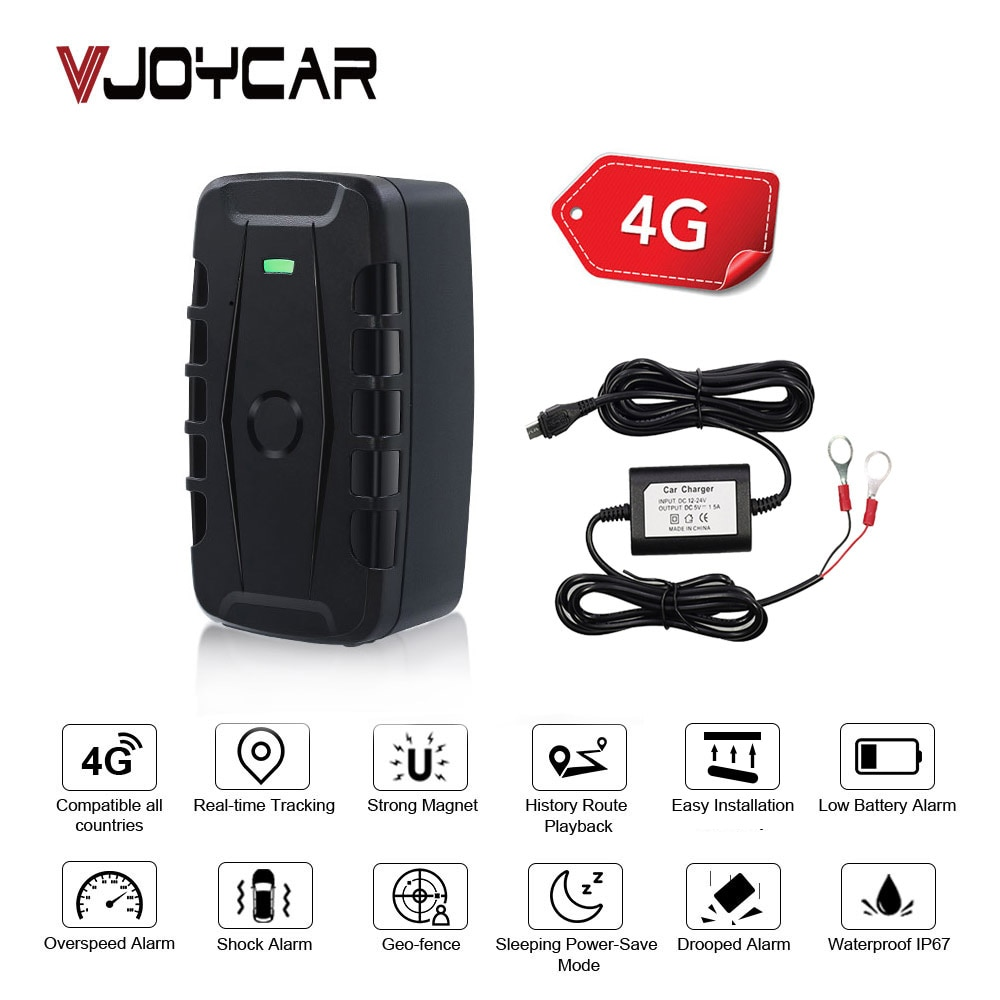 GPS Asset Tracker LK209B-4G Speed Alarm Geo-fence Vehicle 4G LTE GPS Tracker 10000mAh Car GPS Locator Dropped Alarm Free APP