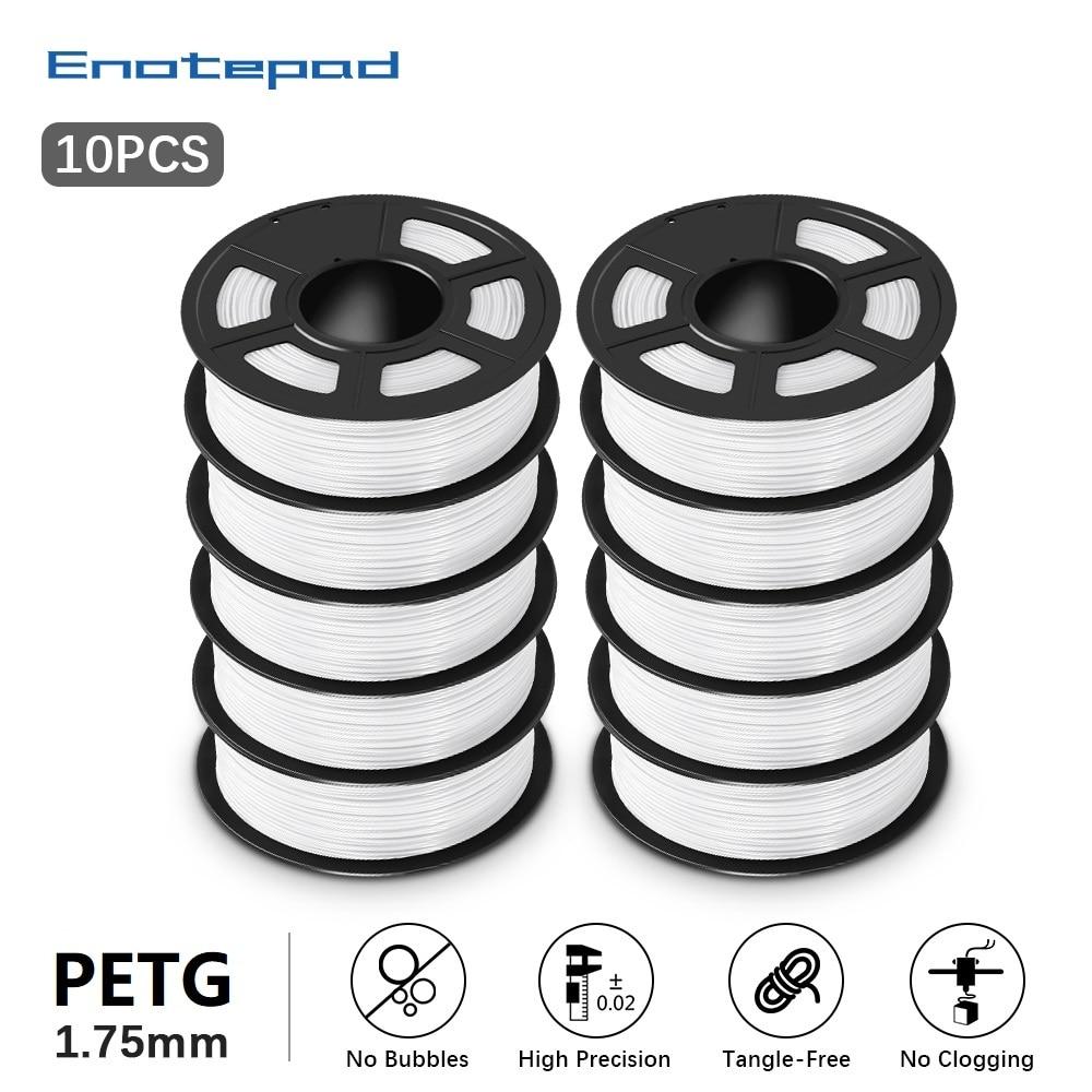 Enotepad خيوط طابعة ثلاثية الأبعاد 1.75 مللي متر بيتغ خيوط كومبو 1 كجم 2.2lb المواد الاستهلاكية البلاستيكية بيتغ