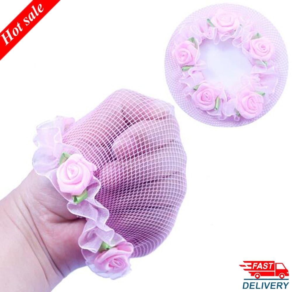 Lindas redes de pelo reutilizables con encaje de flores para Niñas para bailarines, accesorios para el cabello, Ropa de baile de Ballet