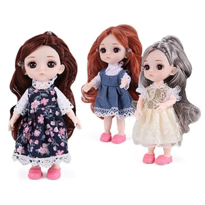 Girl Princess Simulation Fashion Doll Realistic Durable Baby Ball Joint Doll Child Fun Toy Birthday Gift For Children Girls Boys